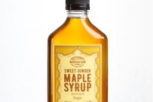 SWEET GINGER MAPLE SYRUP INFUSED WITH GINGER