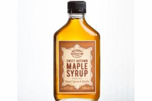 SWEET AUTUMN MAPLE SYRUP INFUSED WITH SWEET SPICES & VANILLA
