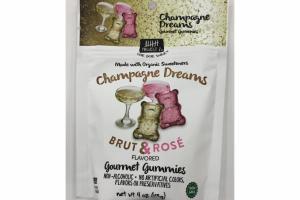 CHAMPAGNE DREAMS BRUT & ROSE FLAVORED GOURMET GUMMIES