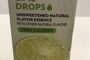 LIME DROPS UNSWEETENED NATURAL FLAVOR ESSENCE