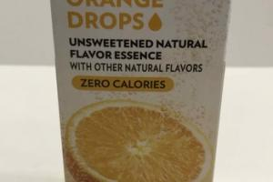 ORANGE DROPS UNSWEETENED NATURAL FLAVOR ESSENCE