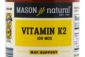 Vitamin K2 100 Mcg Dietary Supplement