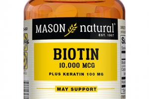BIOTIN 10,000 MCG PLUS KERATIN 100 MG DIETARY SUPPLEMENT, TABLETS