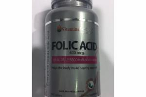 FOLIC ACID 400 MCG. IDEAL DAILY RECOMMENDED DOSE DIETARY SUPPLEMENT TABLETS