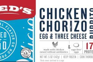 Chicken Chorizo Egg & Three Cheese Burrito
