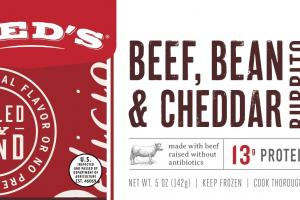 Beef, Bean & Cheddar Burrito