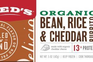 Organic Bean, Rice & Cheddar Burrito
