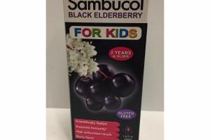 BLACK ELDERBERRY SYRUP FOR KIDS DIETARY SUPPLEMENT