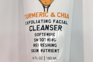 Exfoliating Facial Cleanser, Turmeric & Chia