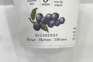 BLUEBERRY STRAINED NON-FAT YOGURT