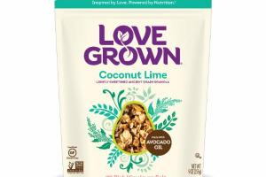 COCONUT LIME PINK HIMALAYAN SALT LIGHTLY SWEETENED ANCIENT GRAIN GRANOLA