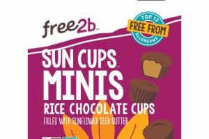 MINIS RICE CHOCOLATE CUPS FILLED WITH SUNFLOWER SEED BUTTER