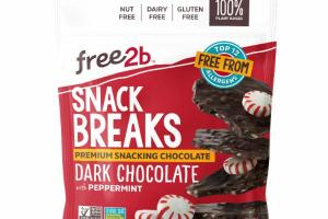 DARK CHOCOLATE WITH PEPPERMINT SNACK BREAKS