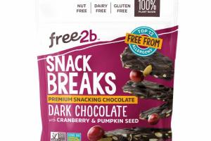 DARK CHOCOLATE WITH CRANBERRY & PUMPKIN SEED SNACK BREAKS