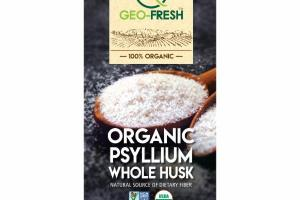 100% ORGANIC PSYLLIUM WHOLE HUSK DIETARY SUPPLEMENT