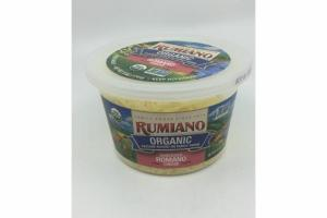 ORGANIC SHREDDED ROMANO CHEESE