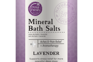 MINERAL BATH SALTS ACHES & PAIN RELIEF + AROMATHERAPY, LAVENDER