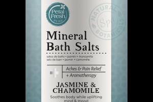 MINERAL BATH SALTS, JASMINE & CHAMOMILE