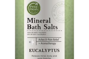MINERAL BATH SALTS 100% PURE EUCALYPTUS ESSENTIAL OIL