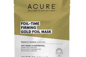 FOIL-TIME FIRMING GOLD FOIL MASK, VITAMIN C & TURMERIC