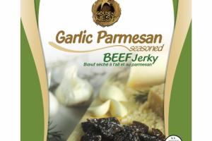 GARLIC PARMESAN SEASONED BEEF JERKY