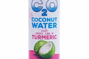 COCONUT WATER WITH GINGER, LIME, & TURMERIC