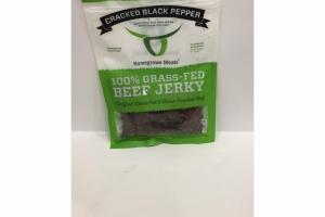 CRACKED BLACK PEPPER 100% GRASS-FED BEEF JERKY