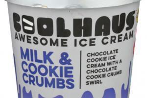 CHOCOLATE COOKIE ICE CREAM WITH A CHOCOLATE COOKIE CRUMB SWIRL
