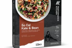 SO CAL KALE & BEAN WITH RED RICE, WHITE BEANS, KALE, CARROTS, AND BROCCOLI, COOKED IN AVOCADO OIL BOWL