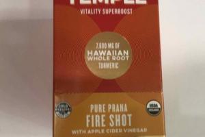 ORGANIC PURE PRANA STRENGTH FIRE SHOT WITH APPLE CIDER VINEGAR