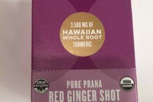IMMUNITY VITALITY SUPERBOOST 3,500 MG OF HAWAIIAN WHOLE ROOT TURMERIC PURE PRANA RED GINGER SHOT WITH ELDERBERRY