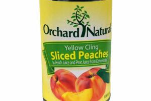 YELLOW CLING SLICED PEACHES IN PEACH JUICE AND PEAR JUICE FROM CONCENTRATE