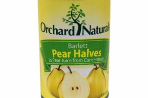 BARTLETT PEAR HALVES IN PEAR JUICE FROM CONCENTRATE