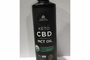 KETO CBD ORGANIC MCT OIL INFUSED WITH CBD DIETARY SUPPLEMENT