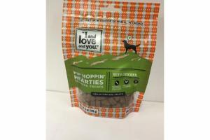 HIP HOPPIN' HEARTIES WITH CHICKEN GRAIN FREE DOG TREATS