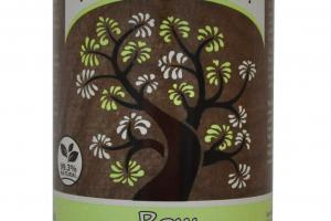 RAW BLACK SOAP WITH FAIR TRADE SHEA BUTTER, COCONUT PAPAYA