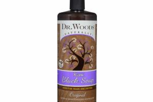RAW BLACK SOAP WITH FAIR TRADE SHEA BUTTER, ORIGINAL