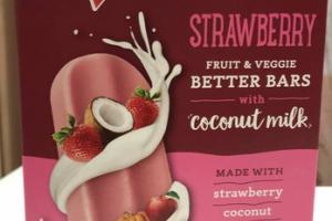 STRAWBERRY COCONUT MILK, FRUIT & VEGGIE BETTER BARS