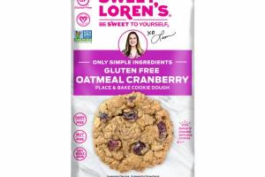 GLUTEN FREE OATMEAL CRANBERRY PLACE & BAKE COOKIE DOUGH