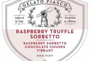 RASPBERRY TRUFFLE SORBETTO CHOCOLATE CHUNKS VIBRANT