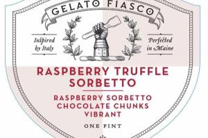RASPBERRY TRUFFLE SORBETTO CHOCOLATE CHUNKS VIBRANT
