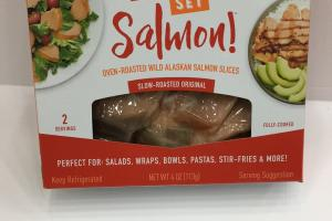 Oven-roasted Wild Alaskan Salmon Slices