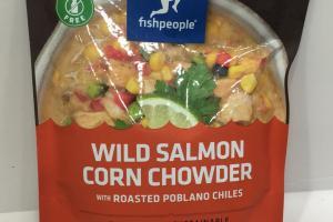 Wild Salmon Corn Chowder With Roasted Poblano Chiles