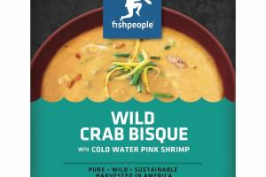 WILD CRAB BISQUE WITH COLD WATER PINK SHRIMP