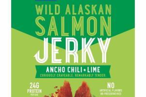 MILD ANCHO CHILI + LIME WILD ALASKAN SALMON JERKY