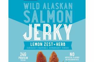 LEMON ZEST + HERB WILD ALASKAN SALMON JERKY