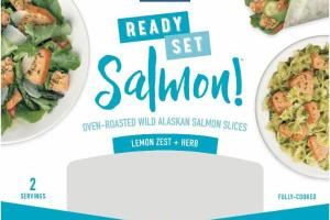 LEMON ZEST + HERB OVEN-ROASTED WILD ALASKAN SALMON SLICES