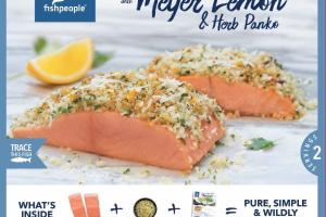WILD ALASKAN SALMON TOPPED WITH MEYER LEMON & HERB PANKO