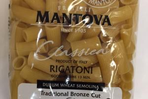 Durum Wheat Semolina, Traditional Bronze Cut Classica Rigatoni