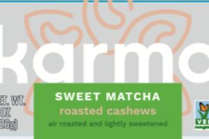 SWEET MATCHA ROASTED CASHEWS